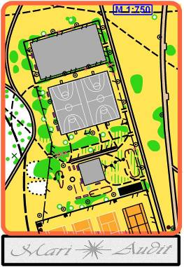 карта спортплощадки для мини-ориентирования в ЧГ в 2003 г.